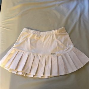 Fila Perfectly White Pleated Dry Fit Tennis Skirt